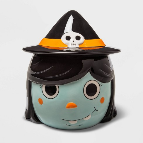 Witch Ceramic Halloween Candy Jar (with Lid)  - Hyde & EEK! Boutique™ - image 1 of 2