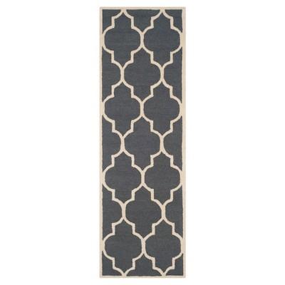 2'6 X12' Geometric Runner Dark Gray/Ivory - Safavieh