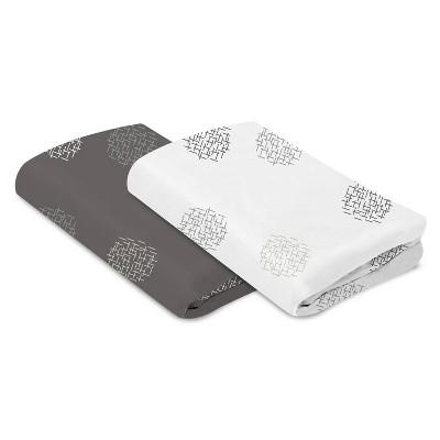 4moms Breeze Bassinet Sheet - White/Gray