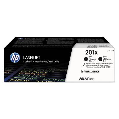 HP Inc. HP 201X (CF400X-D) 2-pack High Yield Black Original LaserJet Toner Cartridges CF400XD