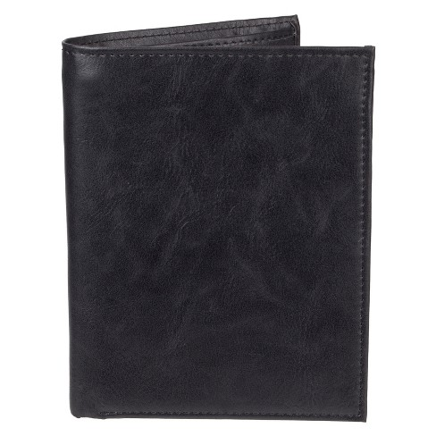 Men's Leather Passport/Visa Holder - Goodfellow & Co™ Black One Size - image 1 of 3