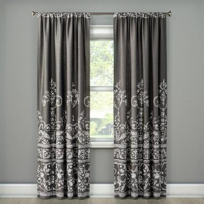 Vintage Gate Curtain Panel Dark Gray (55 x95 )- The Industrial Shop™