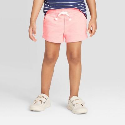 Toddler Girls' Knit Pull-On Shorts - Cat & Jack™ Pink 12M