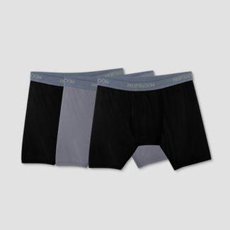 Fruit of the Loom Select Men's Everlight Boxer Briefs 3pk - Black/Gray XL