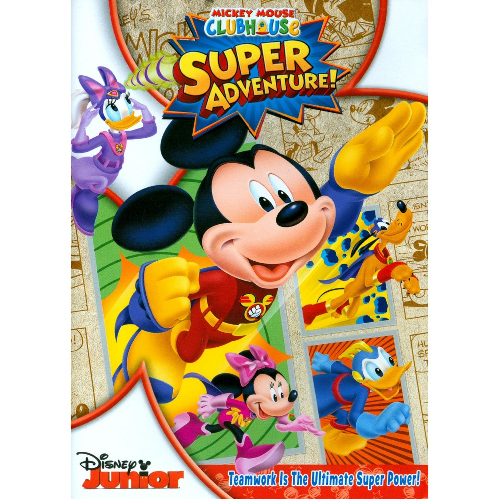 Mickey Mouse Clubhouse Super Adventure With Card Set Dvd