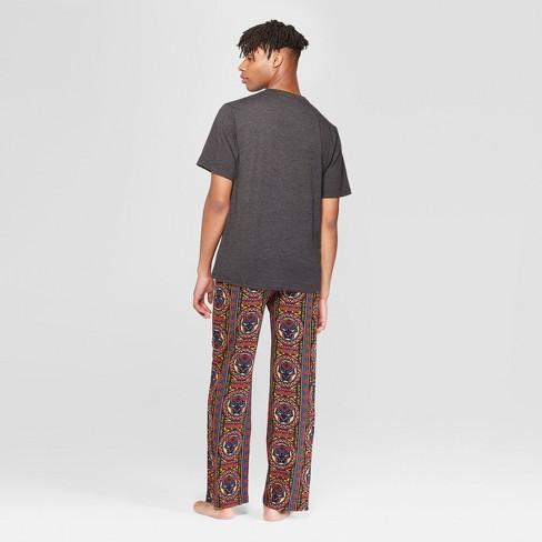 Men s Marvel Black Panther Logo Novelty Pajama Set - Charcoal Heather XL    Target 2c0cf18a2
