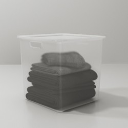 Short Plastic Bin Clear - Made By Design™