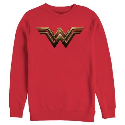 Men's Zack Snyder Justice League Wonder Woman Logo Sweatshirt