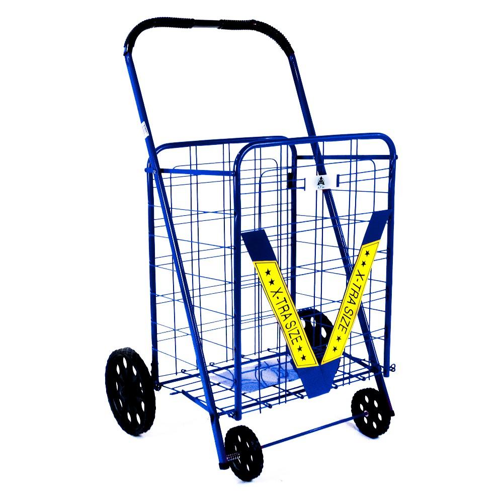 ATHome 44X22 X3.25  Shopping Cart Blue ATHome 44X22 X3.25  Shopping Cart Blue