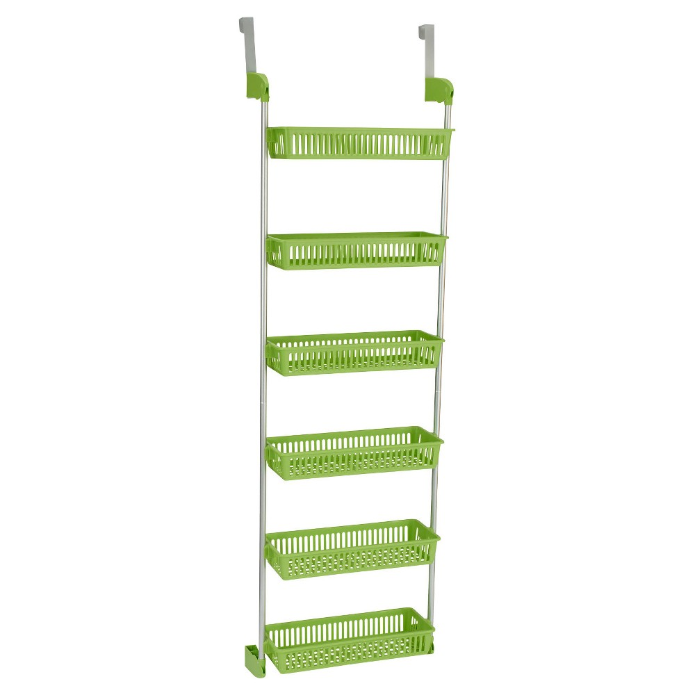 Image of Household Essentials - 6-Basket Over-the-Door Organizer - Lime (Green)