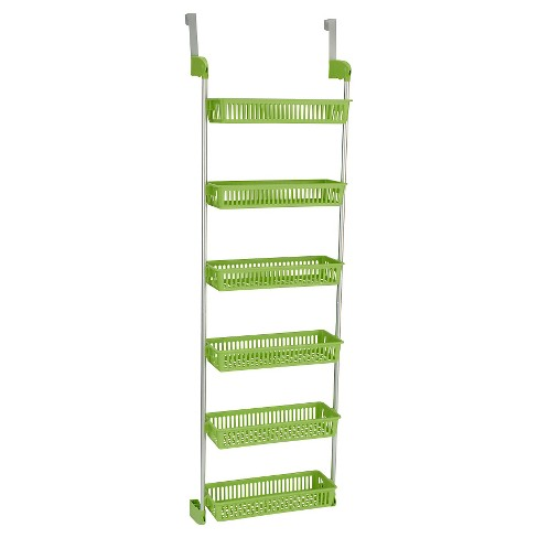 Household Essentials - 6-Basket Over-the-Door Organizer - Lime - image 1 of 2