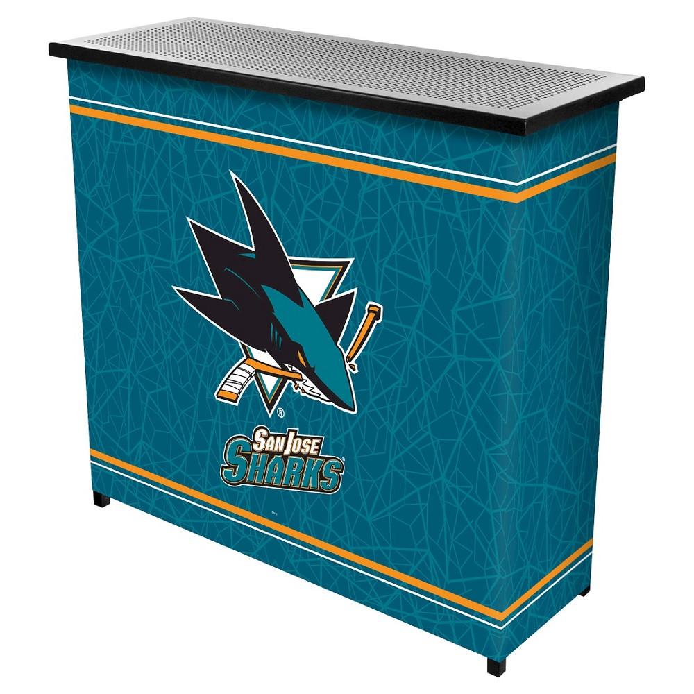 San Jose Sharks 2 Shelf Portable Bar with Case