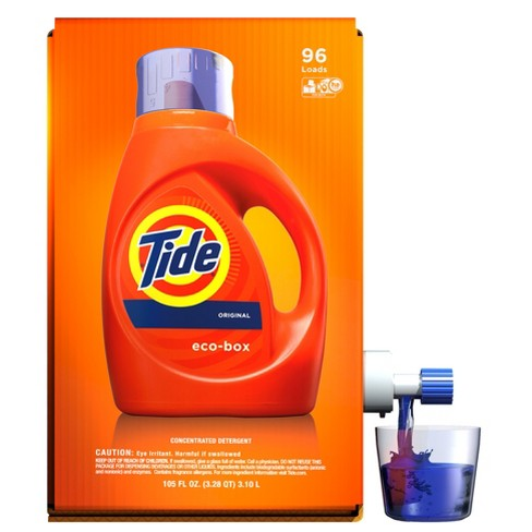 Tide Liquid Laundry Detergent Eco Box Original Scent 105 Fl Oz 96 Loads Target