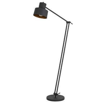 "65"" Davidson Adjustable Height Metal Floor Lamp Matte Black - Cal Lighting"