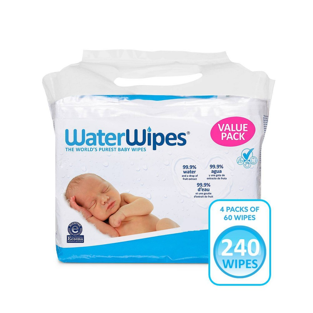 Waterwipes Unscented Baby Wipes Value Box 4pk 240ct Total