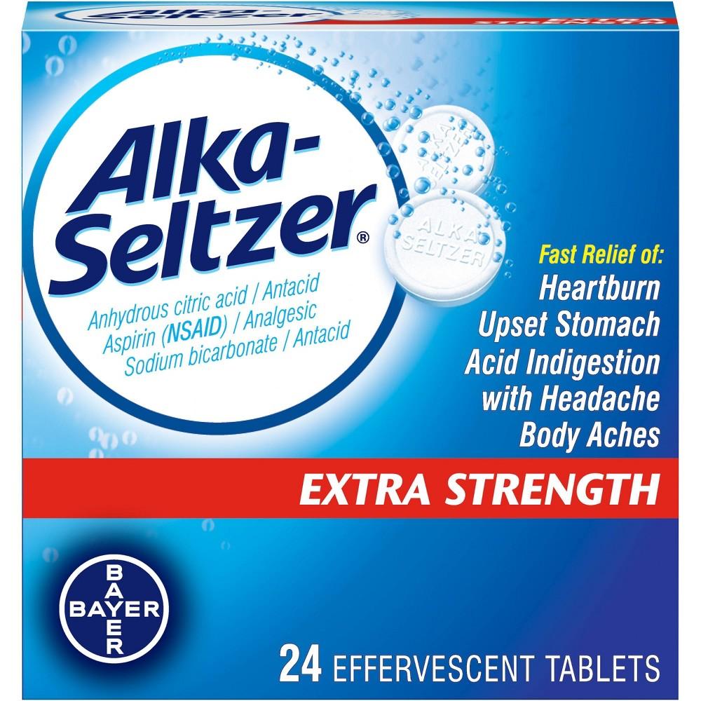 Alka Seltzer Extra Strength Effervescent Tablets - 24ct