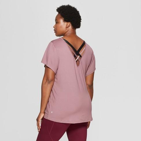 b037a2c847f60 Women s Plus Size Strappy Back T-Shirt - C9 Champio   Target