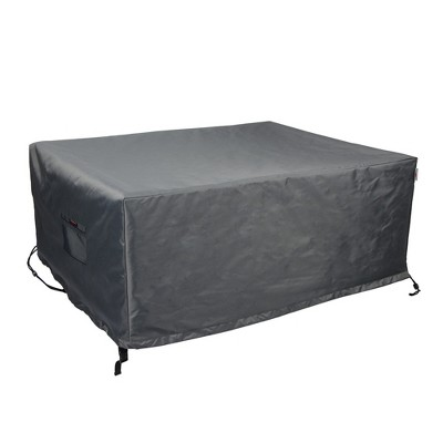 Shield Titanium 3-Layer Water Resistant Outdoor Coffee Table Covers, Dark Grey