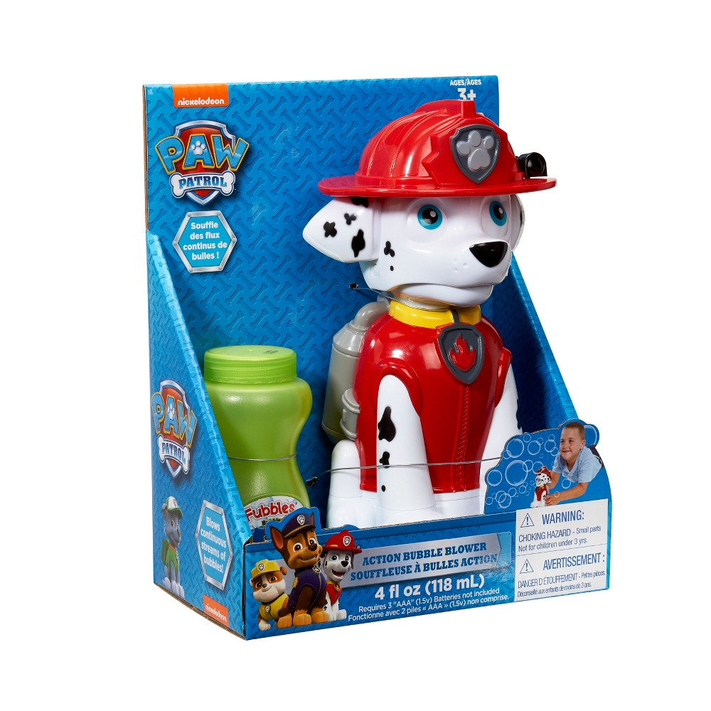 Little Kids Paw Patrol Bubble Machine - Marshall