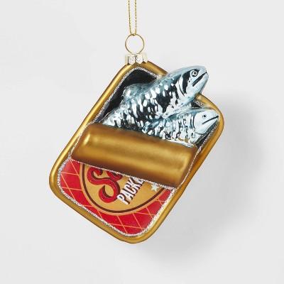 Glass Sardine in Can Christmas Tree Ornament - Wondershop™