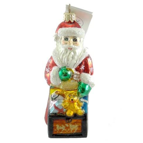 Christopher Radko Tiny Toy Chest Ornament Santa Christmas Teddy - image 1 of 2
