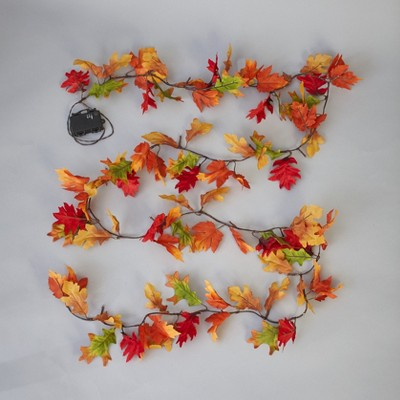 Lakeside Leaves are Falling Autumn is Calling LED Lighted Garland Decoration