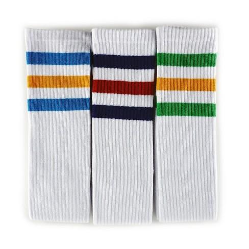 65ec94573e3 Loungefly Stranger Things Striped White 3pk Tube Socks   Target