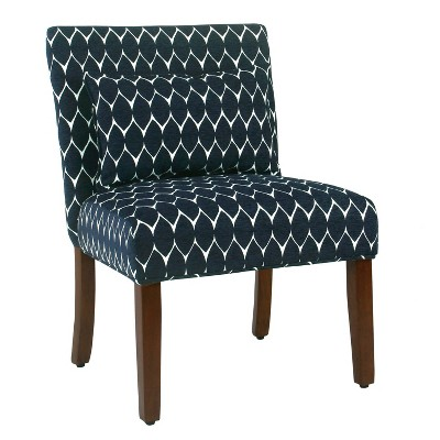 Wooden Accent Chair with Medallion Pattern - Benzara