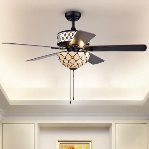 Chrysaor 3 Light Crystal 5 Blade Brown 52 Lighted Ceiling Fan Warehouse Of Tiffany Target