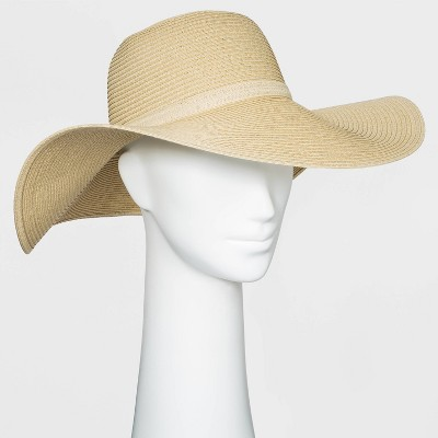 Women's Packable Essential Straw Floppy Hat - A New Day™ Natural
