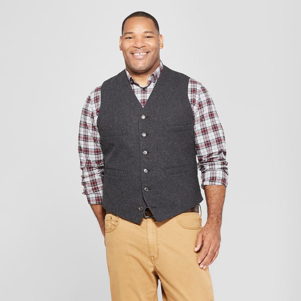 Men's Big & Tall Tailored Suit Vest - Goodfellow & Co Deep Charcoal 4XB, Black