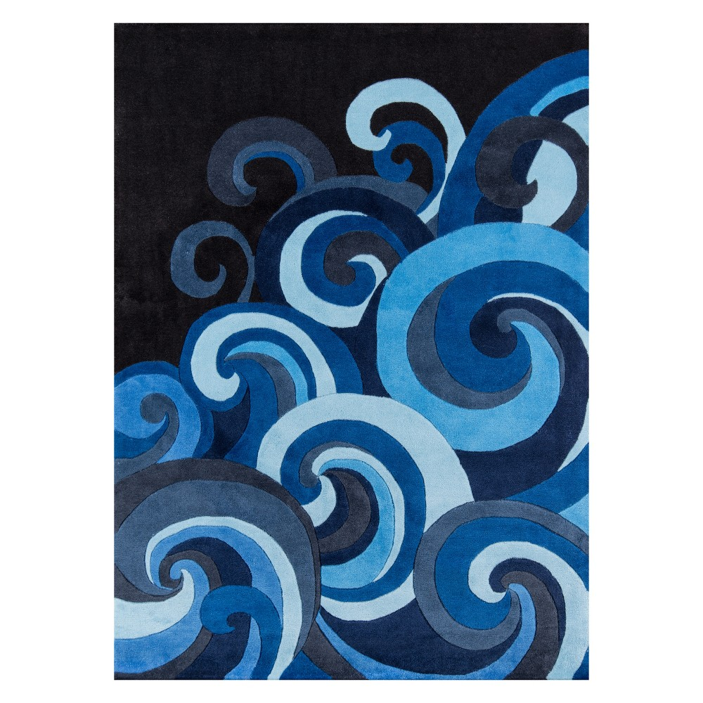 8'X10' Wave Tufted Area Rug Surf - Momeni, Blue
