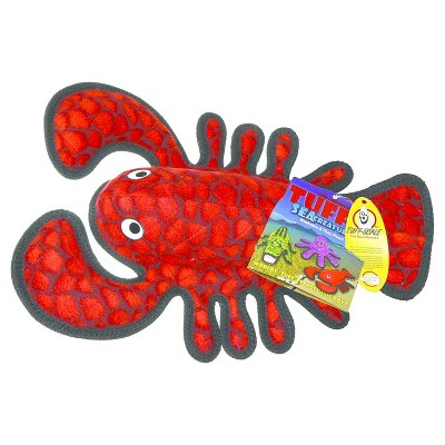Tuffy's Ballistic Lobster Pet Toy - Red