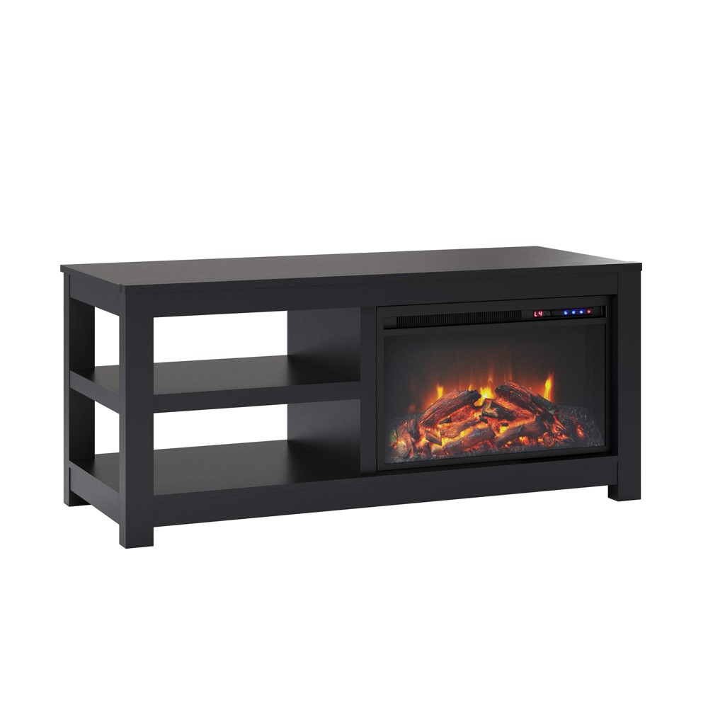 55 George Electric Fireplace TV Stand Black - Room & Joy
