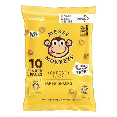 Messy Monkeys Cheese Baked Snacks - 5oz