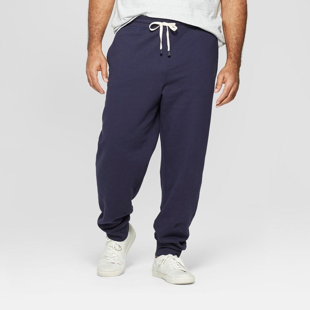 Men's Big & Tall Regular Fit Jogger Pants - Goodfellow & Co Xavier Navy 2XBT