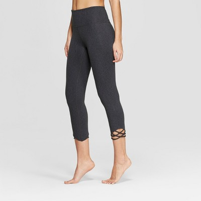 a27e8dafc3ab Women s Comfort High-Waisted 3 4 Knotted Leggings - JoyLab™