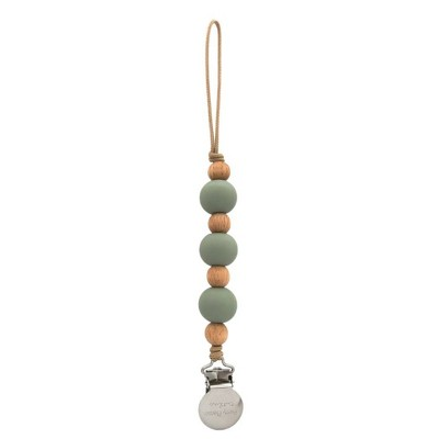 Pretty Please Teethers Zion Classic Pacifier Clips - Eucalyptus