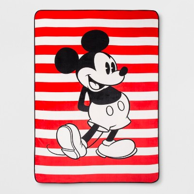 Disney Mickey Mouse Twin Jersey Bed Blanket Red