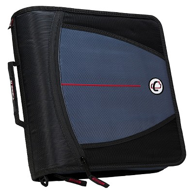 "3"" Nylon Ring Binder with Internal/External Pockets, 8.5"" x 11"" Black - Case It"