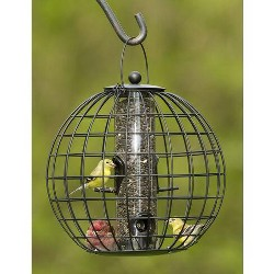 Squirrel Resistant Globe Cage Mixed Seed Bird Feeder - Gardener's Supply Company