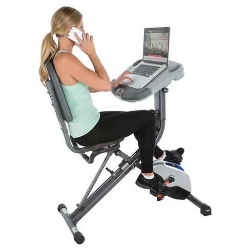 Exerpeutic Workfit 1000 Desk Station Folding Exercise Bike
