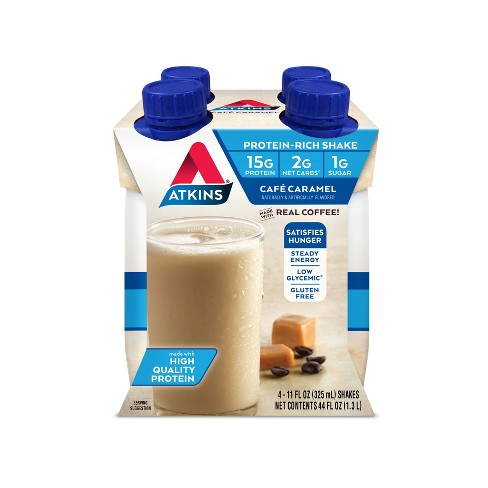 Atkins Dietary Supplement Shake - Caramel - 4ct - image 1 of 2