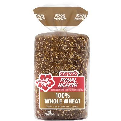 Love's Royal Hearth 100% Whole Wheat Bread - 24oz
