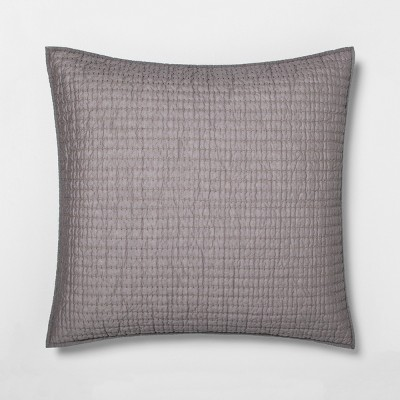 Solid Texture Stripe Pillow Sham - Hearth & Hand™ with Magnolia