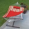 12' Cotton Rope Hammock, Stand, Pad & Pillow Combination Set - Orange - Algoma - image 2 of 4