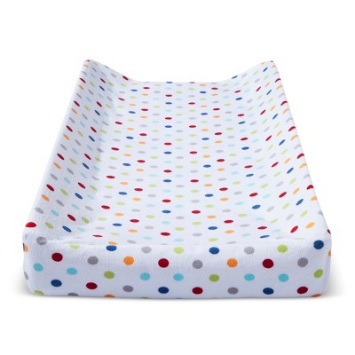Plush Changing Pad Cover Dots - Cloud Island™ - White