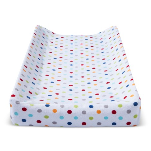 Plush Changing Pad Cover Dots - Cloud Island™ - White - image 1 of 1