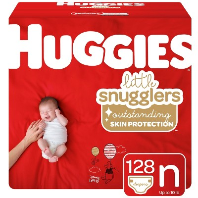 Huggies Little Snugglers Disposable Diapers Giant Pack - Size Newborn - 128ct