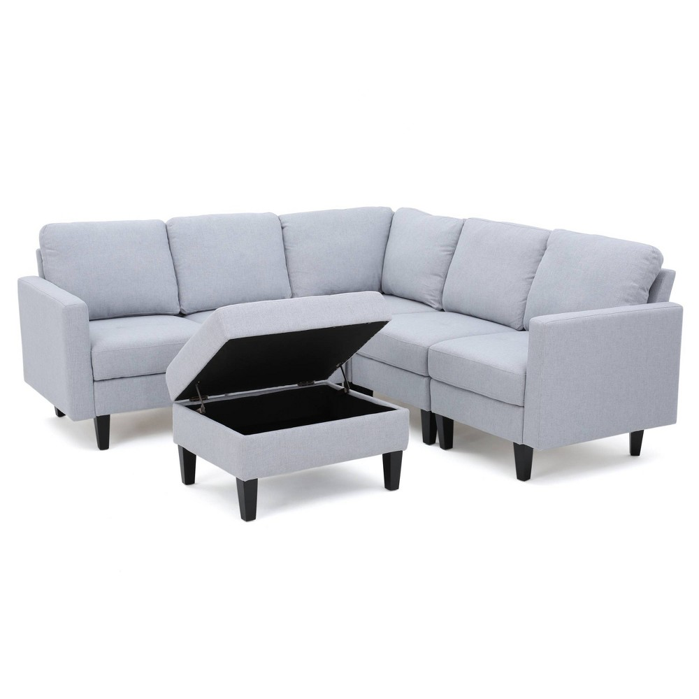 6pc Zahra Sectional Couch Set Light Gray - Christopher Knight Home